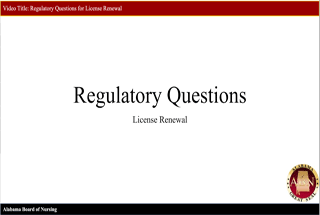Regulatory Questions